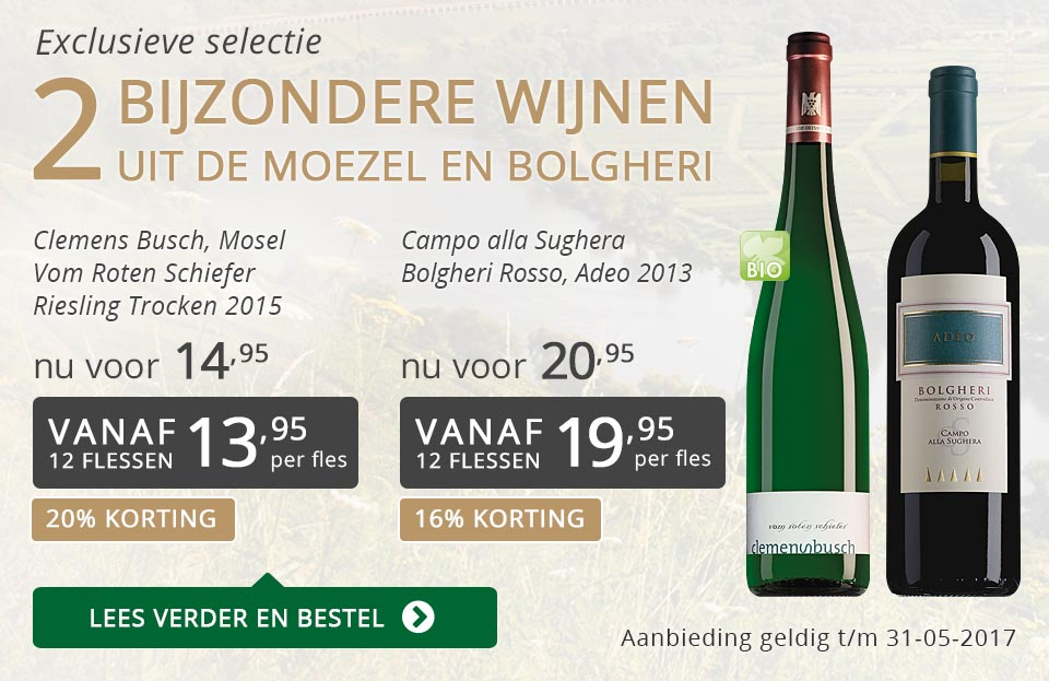 Exclusieve wijnen mei 2017 - grijs/goud
