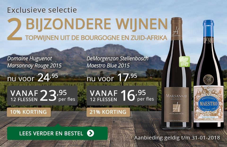Exclusieve wijnen januari 2018 - grijs/goud