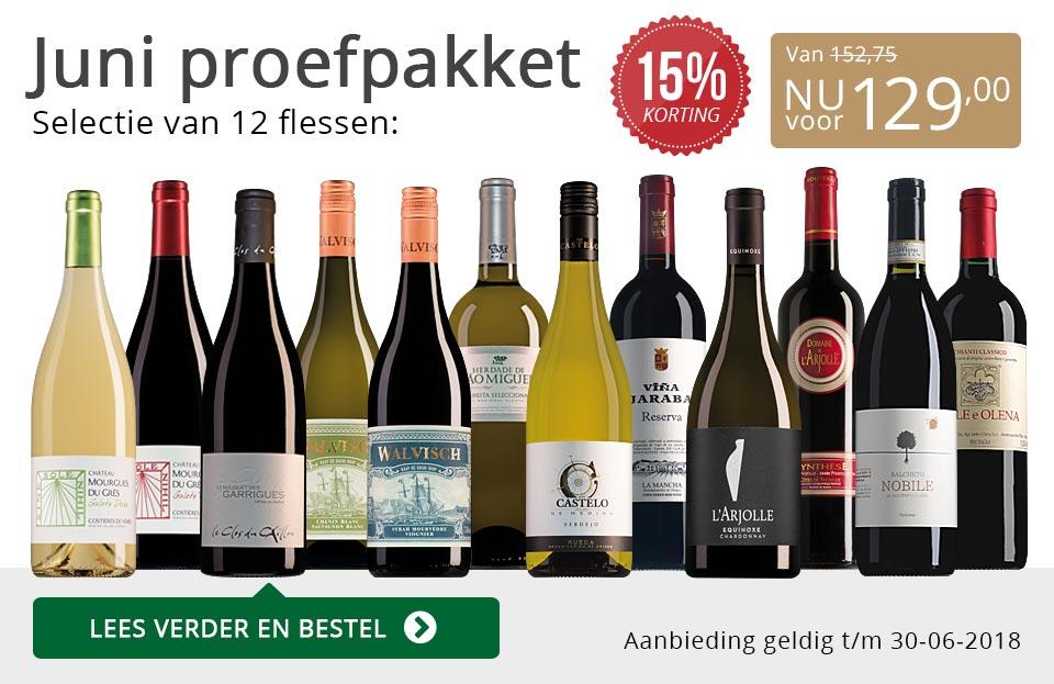 Proefpakket wijnbericht juni 2018 (129,00) - grijs/goud