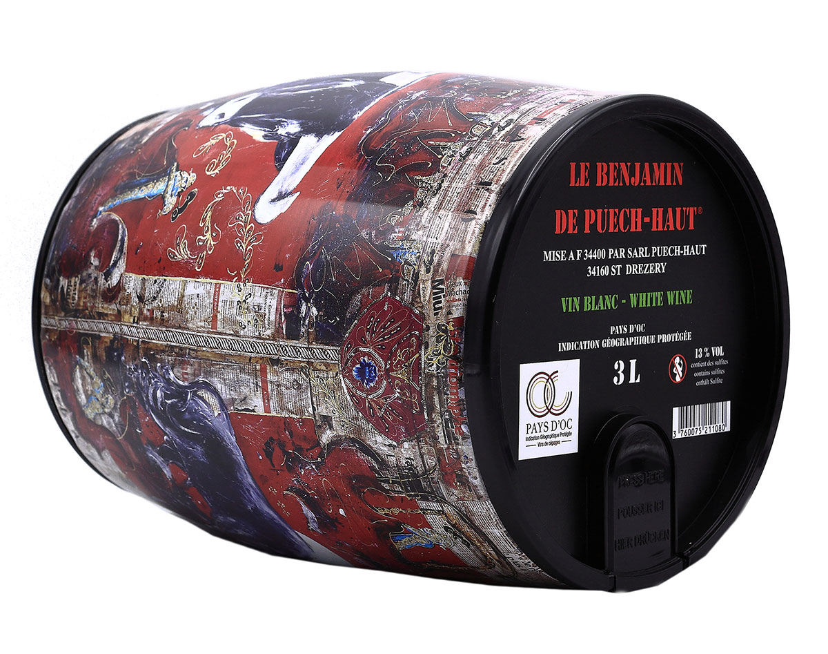 Château Puech-Haut Languedoc Le Benjamin Blanc BIB 3 liter