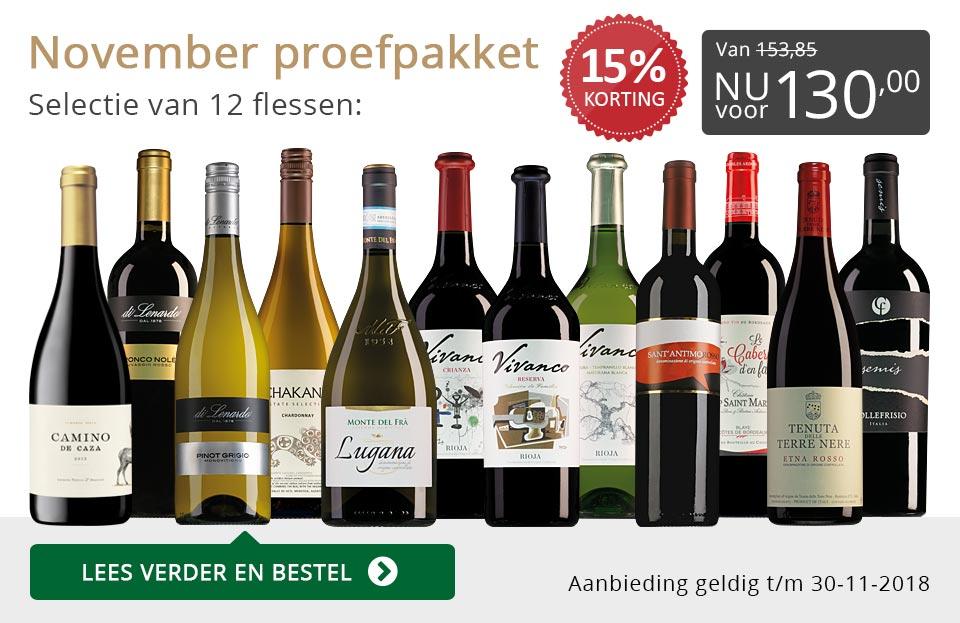Proefpakket wijnbericht november 2018 (130,00) - grijs/goud
